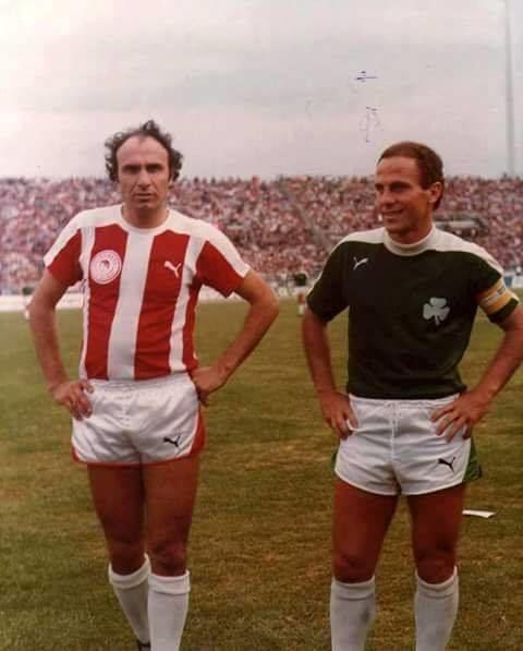 Michalis Kritikopoulos Michalis Kritikopoulos and Mimis Domazos Olympiakos v Panathinaikos