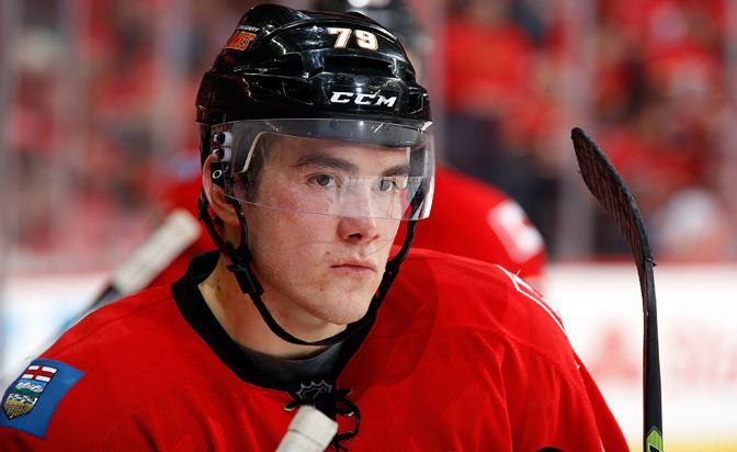 Micheal Ferland Micheal Ferland Calgary Flames forward out with knee