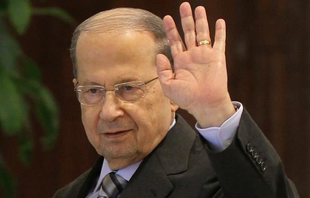 Michel Aoun National News Agency Aoun arrives to Baabda rally