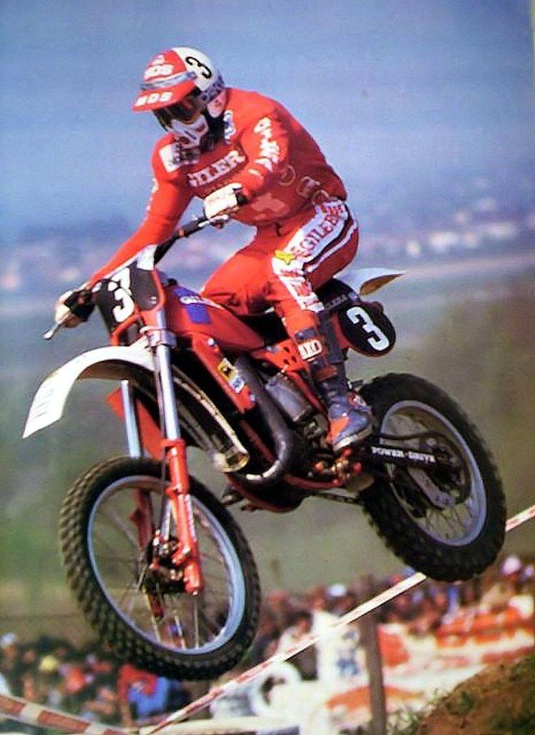 Michele Rinaldi (motorcyclist) Michele Rinaldi Gilera 125 Motocross legends Pinterest