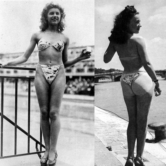 Micheline Bernardini firstbikini Louis Rard39s original string bikini