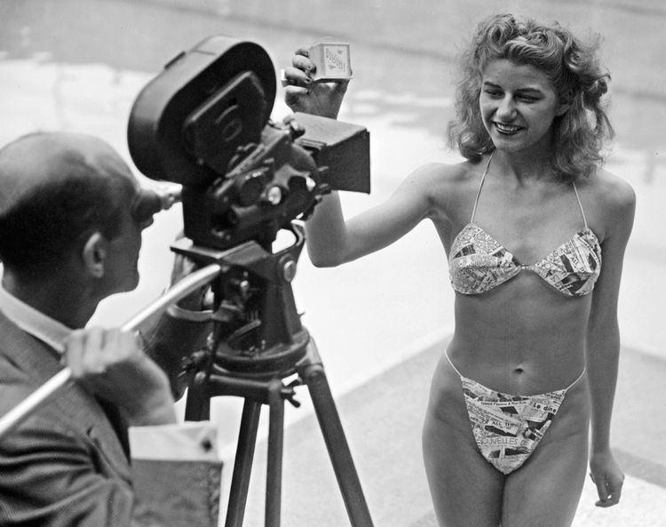 Micheline Bernardini Micheline Bernardini models the very first bikini while