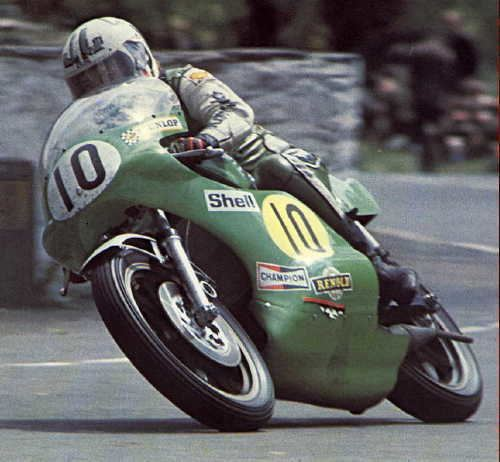 Mick Grant classic historic racing motorcycles kawasaki 500 H1R green
