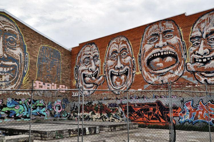 Mick Porter mick porter street art artist rollie heads faces all