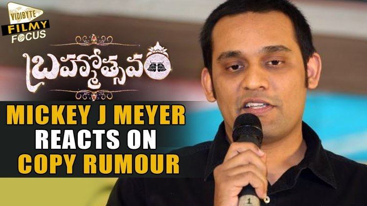 Mickey J. Meyer Mickey J Meyer Reacts on Brahmotsavam Copy Song Rumour Filmy Focus
