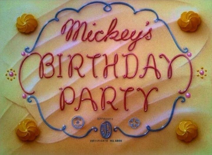 Mickey's Birthday Party Mickeys Birthday Party 1942 The Internet Animation Database