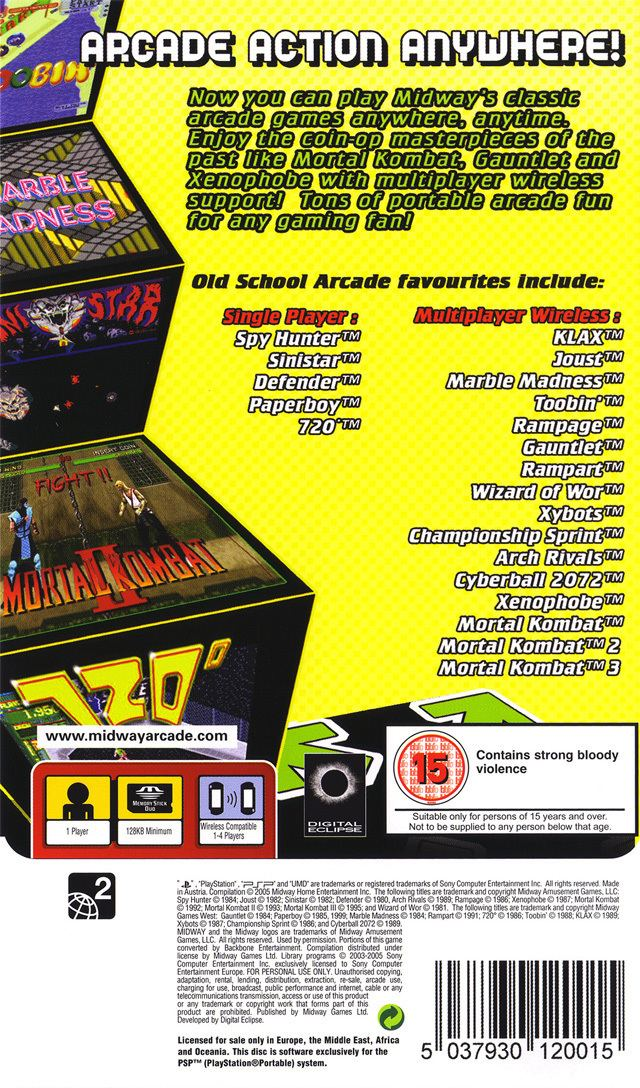 Midway Arcade Treasures: Extended Play Midway Arcade Treasures Extended Play Box Shot for PSP GameFAQs