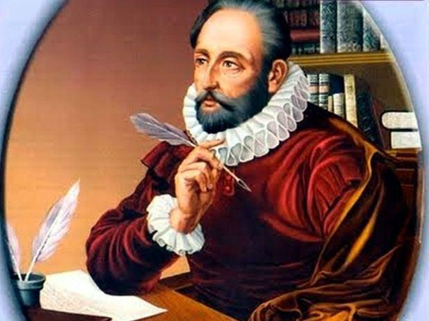 Miguel de Cervantes writing