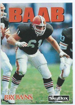 Mike Baab CLEVELAND BROWNS Mike Baab 39 SKYBOX Impact 92 NFL American