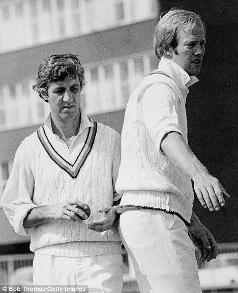 Mike Brearley (Cricketer) playing cricket
