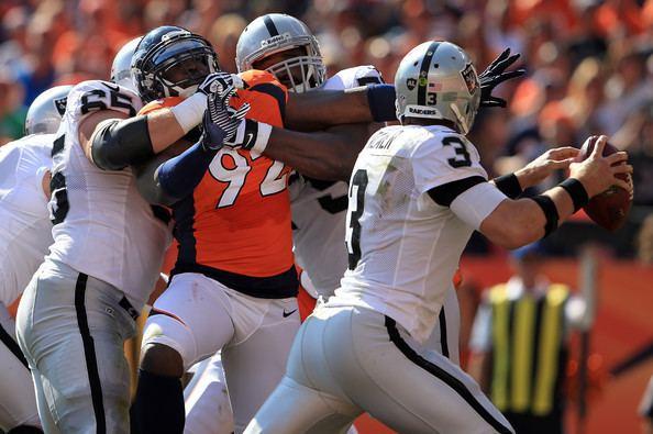 Mike Brisiel Mike Brisiel Pictures Oakland Raiders v Denver Broncos