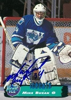 Mike Buzak Mike Buzak autographed Hockey Card Worcester Icecats 1995