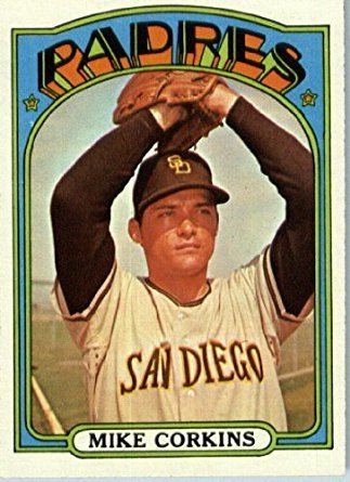 Mike Corkins 1972 Topps Baseball Card 608 Mike Corkins ENCASED at Amazons