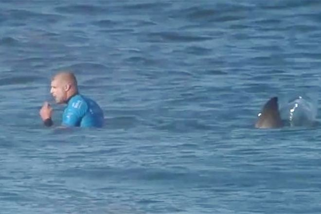 Mike Fanning Watch Surfer Mick Fanning Escape from a Shark Attack