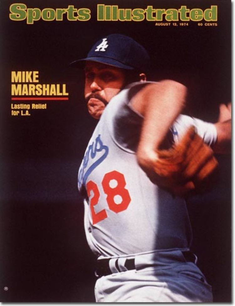Los Angeles Dodgers Mike Marshall   Sports Illustrated Cover