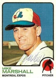 Dr. Mike Marshall Autographed 1973 Topps Card   Montreal Expos Beckett BAS
