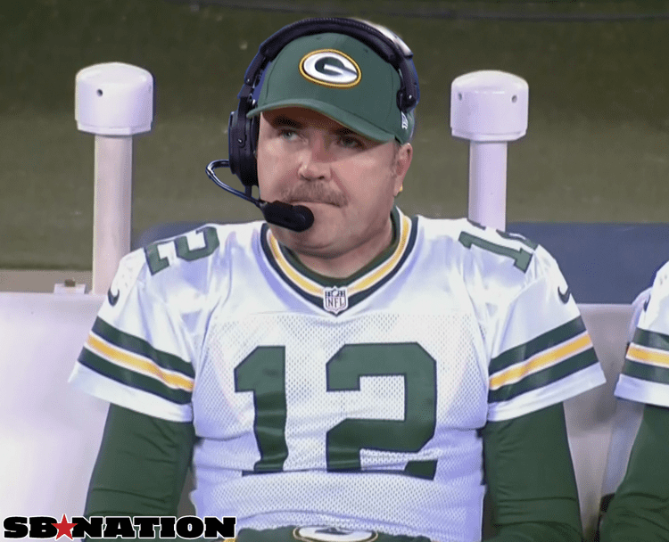 Mike McCarthy (American football) Aaron Rodgers Mike McCarthy Movember mustache mix up SBNationcom