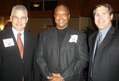 Mike Pagel Henry Hank Aaron at Yoder Brothers Dinner in Cleveland