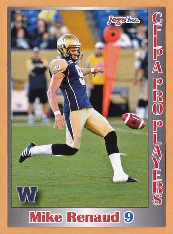 Mike Renaud Mike Renaud CFL card 2012 Jogo Pro Player 119 Winnipeg Blue Bombers