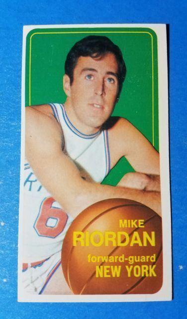 Mike Riordan 1970 1971 Topps Mike Riordan New York Knicks 26 Basketball Card