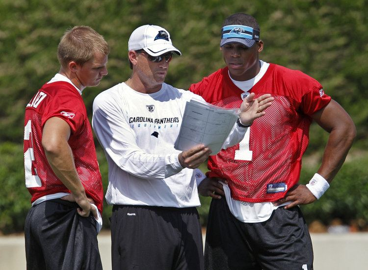 Mike Shula Cam Newton makes waves in first Panthers practice under