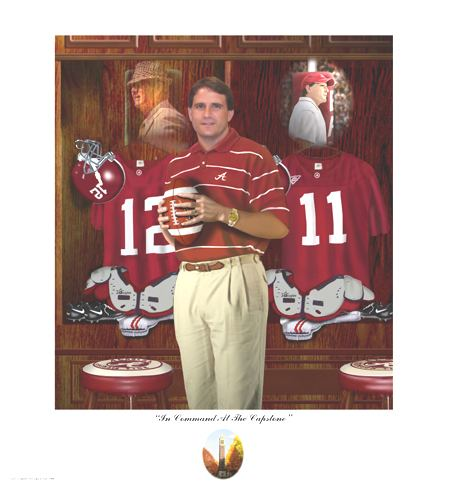 Mike Shula Head Coach Mike Shula University of Alabama Football Art Prints