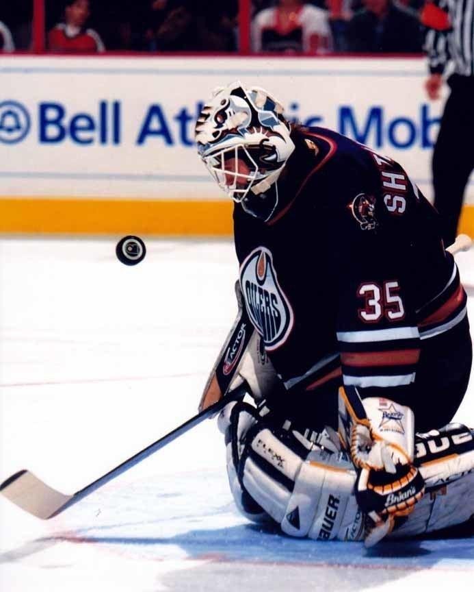 Mikhail Shtalenkov 199899 Mikhail Shtalenkov Edmonton Oilers Game Worn