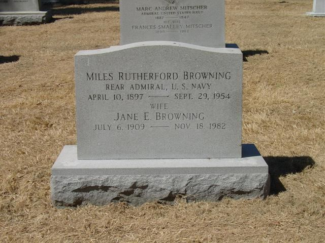 Miles Browning Miles Rutherford Browning Rear Admiral United States Navy