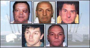 Millennium Dome raid BBC News ENGLAND Dome diamond raiders jailed