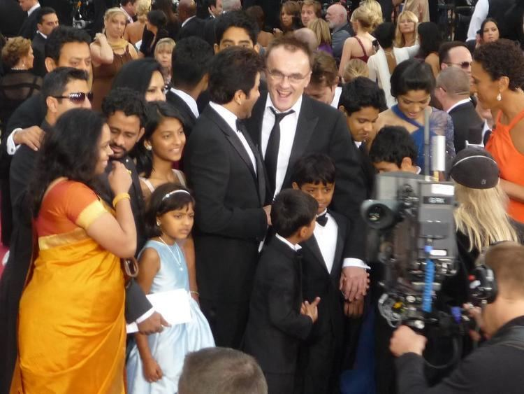 Millionaires Express movie scenes The Slumdog Millionaire team at the 81st Academy Awards in the US