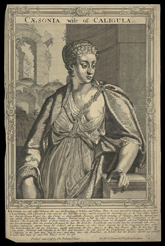 Milonia Caesonia FileMilonia Caesonia wife of Caligula Emperor of Rome Line