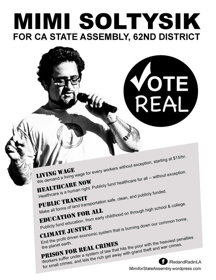 Mimi Soltysik Mimi for California State Assembly 62nd District A Peoples Campaign