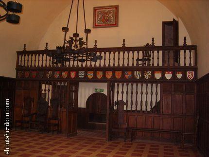 Minstrels' gallery Doune Castle