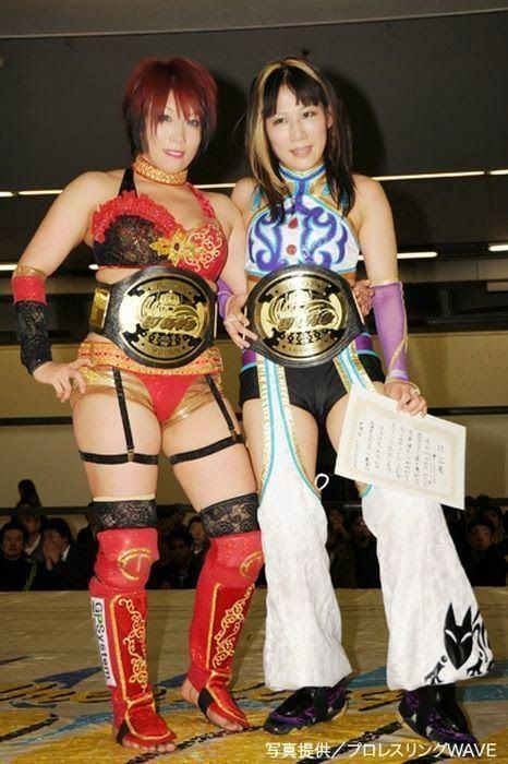 Mio Shirai Japanese Womens Wrestling Kana and Mio Shirai Japanese
