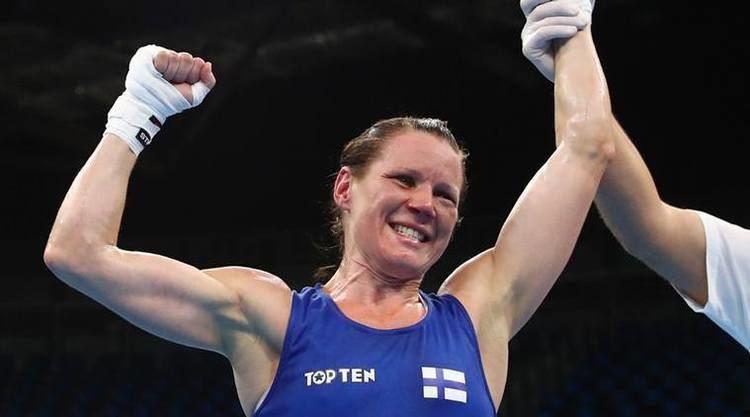Mira Potkonen Mira Potkonen ends Irish champion39s Katie Taylor hopes The Indian
