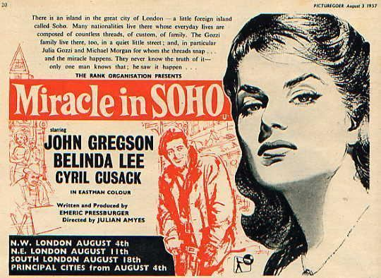 Miracle in Soho Powell Pressburger Images Miracle in Soho 1957