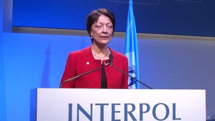 Mireille Ballestrazzi INTERPOL President Mireille Ballestrazzi following her
