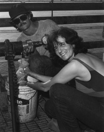 Miriam Kastner On board the DV Glomar Challenger ship geochemist Miriam Kastner