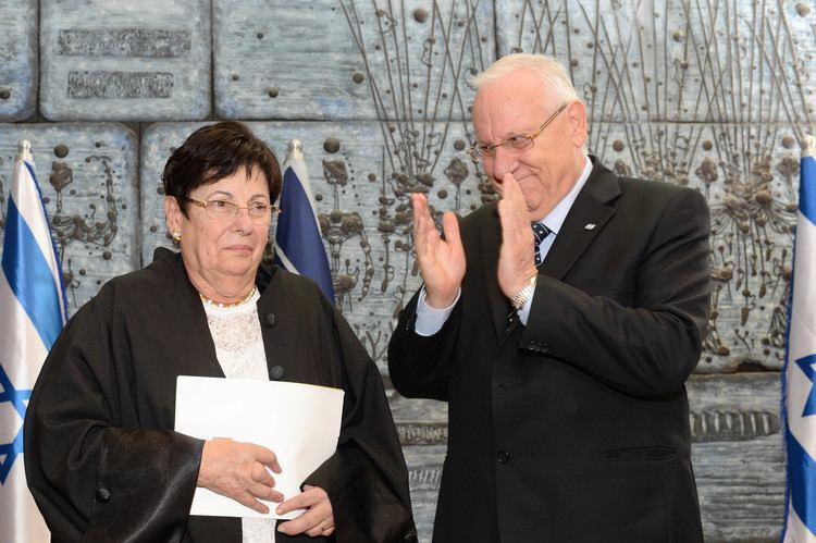 Miriam Naor FileThe swearing in ceremony of Chief Justice Justice Miriam Naor