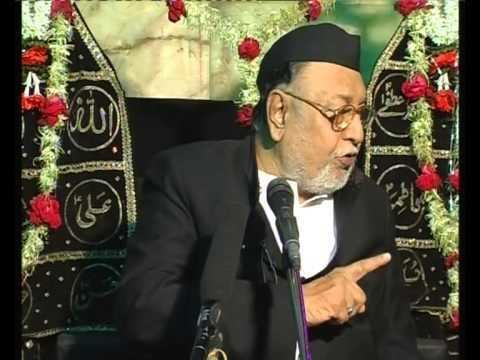 Mirza Mohammed Athar Maulana Mirza Mohammed Athar Majlis 8 Mahe Moharram 20122013