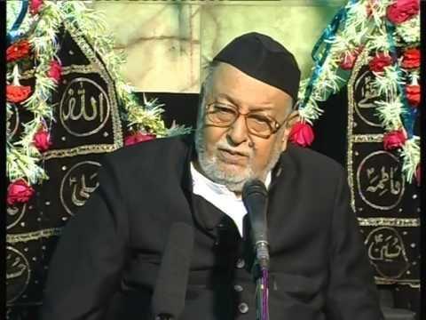 Mirza Mohammed Athar Maulana Mirza Mohammed Athar Majlis 4 Mahe Moharram 20122013