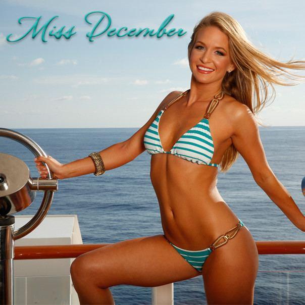 Miss December Miami Dolphins cheerleaders swimsuit calendar Meet Miss December