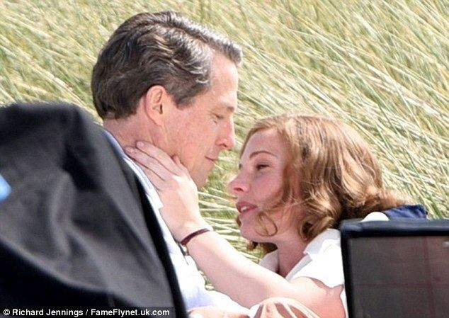 Miss Grant Goes to the Door movie scenes Titillating take Hugh Grant and his co star Rebecca Fergusson were seen