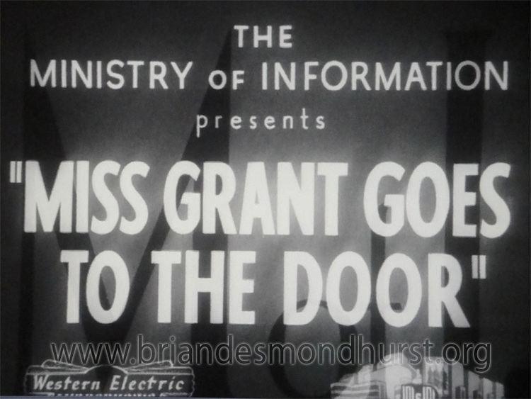 Miss Grant Goes to the Door Miss grant Goes to the Door 1940