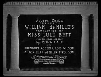 Miss Lulu Bett (film) Miss Lulu Bett film Wikipedia