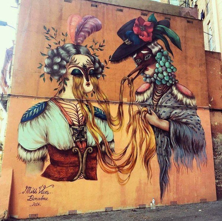 Miss Van By Miss Van Femgraff Festival 2016 Street Art Barcelona