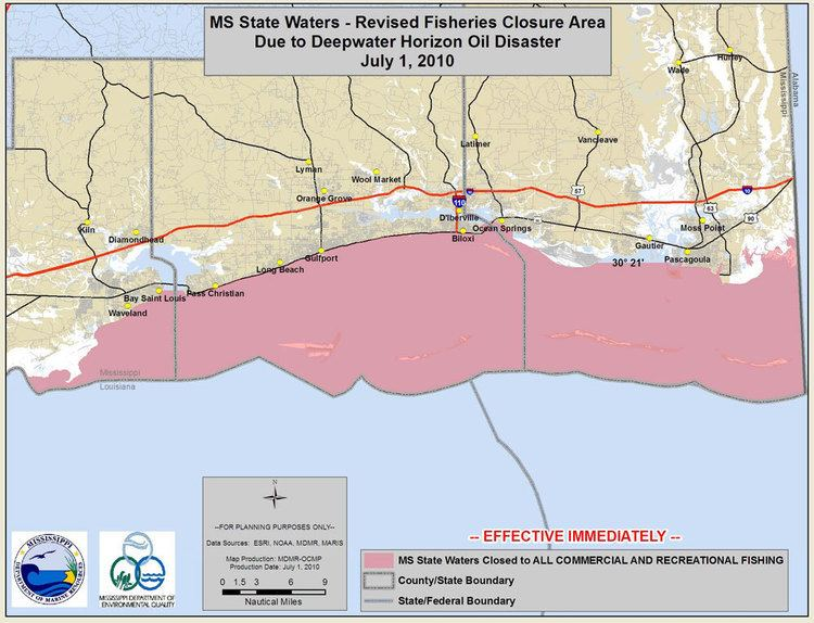Mississippi Sound Mississippi Sound closed to fishing coastal bays and rivers remain