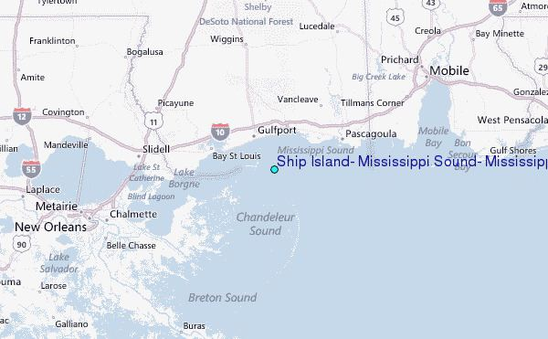 Mississippi Sound Ship Island Mississippi Sound Mississippi Tide Station Location Guide