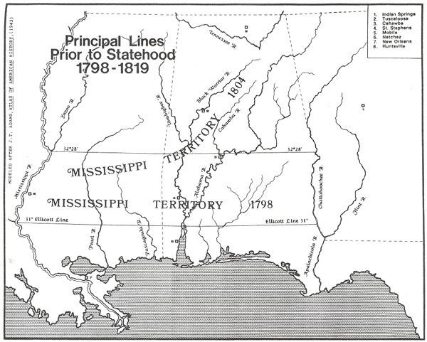 Mississippi Territory The Great Migration to the Mississippi Territory 17981819