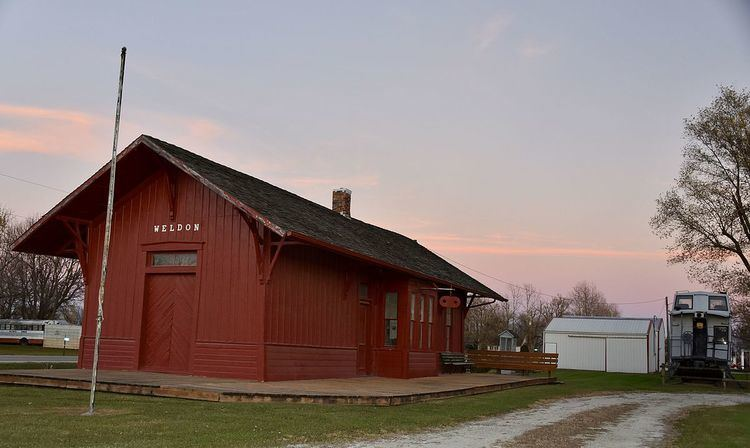 Missouri, Iowa & Nebraska Railway Co. Depot-Weldon